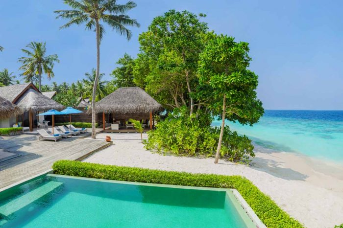 Spend 3 nights 2 Bedroom Family Beach Villa with Pool – Dusit Thani Maldives for India LS