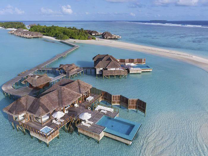 A sprawling villa at the Conrad Maldives Rangali Island. MUST CREDIT: Conrad Maldives Rangali Island